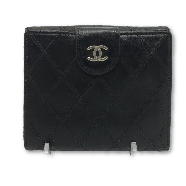 Chanel CC Quilted Cards and Cash Wallet-Wallets & Clutches-Chanel-Black-JustGorgeousStudio.com