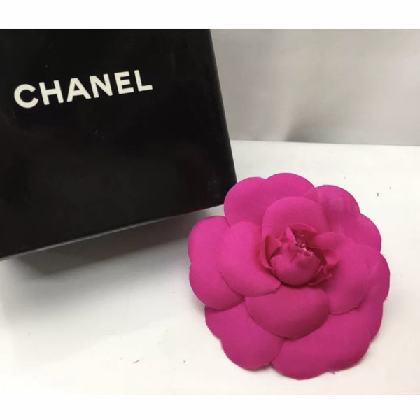 Chanel Dark Pink Camelia Flower Brooch - Authentic Bags Only - Just Gorgeous Studio