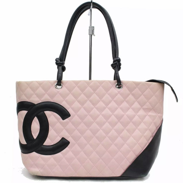 Chanel Ligne Cambon Tote Large Pink/Black-Bags-Chanel-Pink/black-JustGorgeousStudio.com