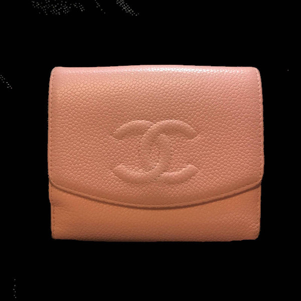 Chanel Timeless CC Pink Caviar Wallet-Sold Items-Chanel-Pink-JustGorgeousStudio.com