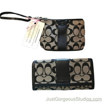 Coach Wristlet & Long Wallet-Sold Items-coach-Black-JustGorgeousStudio.com