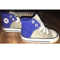 Converse All Star Baby High Top Sneakers-Clothing, Shoes & Accessories-Converse-Blue/grey-JustGorgeousStudio.com