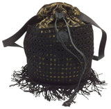 Fendi Mini Bohemien Boho Gold Tassel Bucket Bag (Rare & Vintage)-Sold Items-Fendi-JustGorgeousStudio.com
