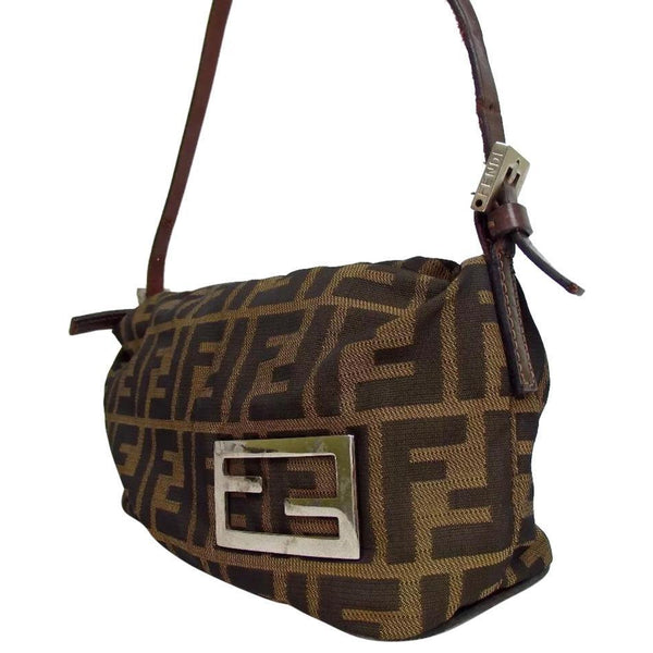 Fendi Monogram Zucca Logo Baguette - Authentic Bags Only - Just Gorgeous Studio