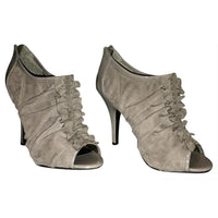 Grey Ruffle Pumps - Authentic Bags Only - Just Gorgeous Studio
