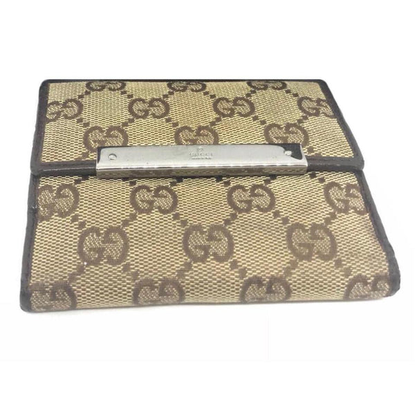 Gucci Bifold Wallet-Wallets & Clutches-Gucci-Brown-JustGorgeousStudio.com