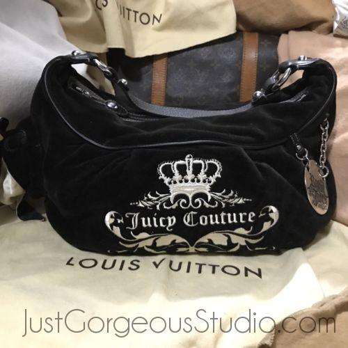 Juicy Couture Shoulder Bag Vintage-Bags-Juicy Couture-Black-JustGorgeousStudio.com