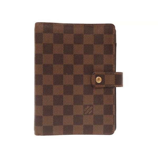 Louis Vuitton Agenda Damier Ébène Agenda MM-Agenda, Books, and Writing-Louis Vuitton-Brown-JustGorgeousStudio.com