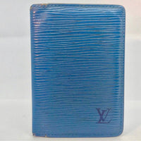 Louis Vuitton Blue Epi Leather Bifold Wallet-Wallets & Clutches-Louis Vuitton-Blue-JustGorgeousStudio.com