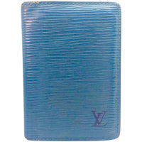 Louis Vuitton Blue Epi Leather Bifold Wallet - Authentic Bags Only - Just Gorgeous Studio