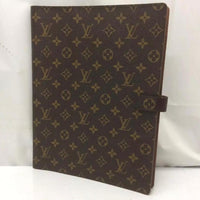 Louis Vuitton Brown Porte Lv Monogram Documents Gm Xl-Agenda, Books, and Writing-Louis Vuitton-brown-JustGorgeousStudio.com