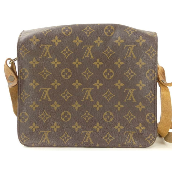 Louis Vuitton Classic LV Monogram Cartouchiere GM-Bags-Louis Vuitton-Brown/tan-JustGorgeousStudio.com