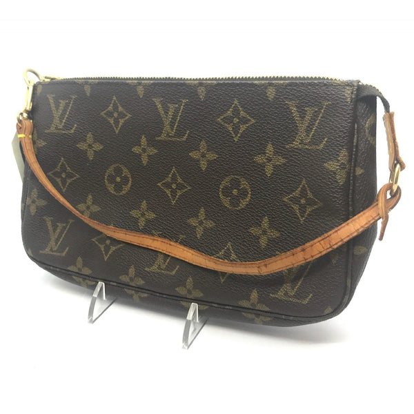 Louis Vuitton Classic LV Monogram Pouch Pochette GM-Wallets & Clutches-Louis Vuitton-Brown/tan-JustGorgeousStudio.com