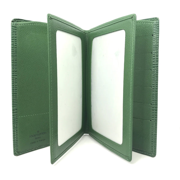 Louis Vuitton Crayola Grass Green Epi Leather Compact Bifold Wallet - Authentic Bags Only - Just Gorgeous Studio