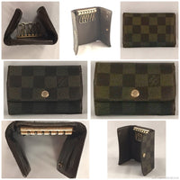 Louis Vuitton Damier Ebene 6 Key Holder-Lock & Key, Key Holders, Luggage Tags-Louis Vuitton-Brown-JustGorgeousStudio.com