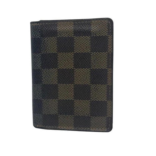 28c9c373dcdf Louis Vuitton Damier Ebene Card Holder-Wallets   Clutches-Louis Vuitton- brown-