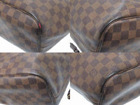 Louis Vuitton Damier Ebene Neverfull MM Tote Bag-Bags-Louis Vuitton-Brown-JustGorgeousStudio.com