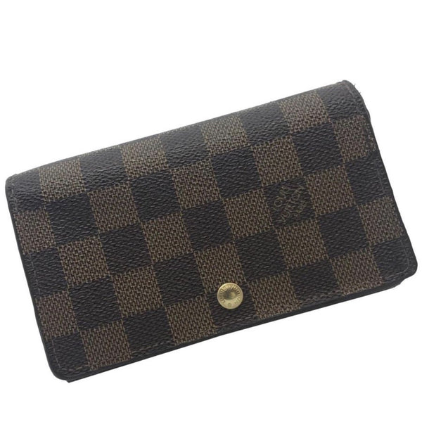 Louis Vuitton Damier Ébène Zippy Wallet-Wallets & Clutches-Louis Vuitton-Brown-JustGorgeousStudio.com