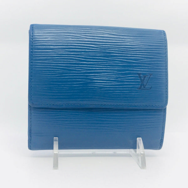 Louis Vuitton Epi Leather Bifold Wallet-Wallets & Clutches-Louis Vuitton-Blue-JustGorgeousStudio.com