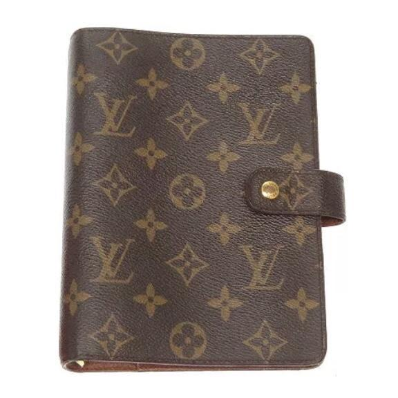 Louis Vuitton Monogram Agenda MM-Agenda, Books, and Writing-Louis Vuitton-Brown-JustGorgeousStudio.com