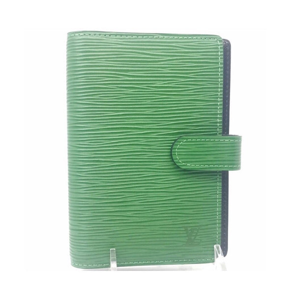 Louis Vuitton Monogram Agenda PM in Green Epi-Agenda, Books, and Writing-Louis Vuitton-green-leather-JustGorgeousStudio.com