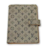 Louis Vuitton Monogram Agenda PM in Navy-Grey Idylle Mini Lin-Agenda, Books, and Writing-Louis Vuitton-Navy/Grey-JustGorgeousStudio.com