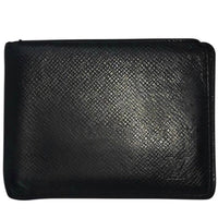 Louis Vuitton Monogram Black/Silver Taiga Leather Bifold Wallet - Authentic Bags Only - Just Gorgeous Studio