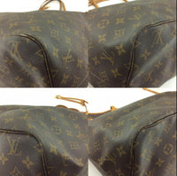 Louis Vuitton Monogram Canvas leather Neverfull GM Tote Bag M40157-Sold Items-Louis Vuitton-Brown-JustGorgeousStudio.com