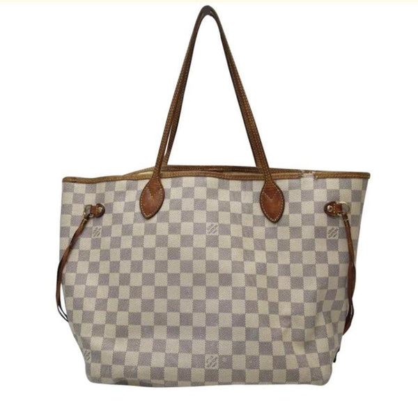 Louis Vuitton Monogram Damier Azure Neverfull MM-Bags-Louis Vuitton-blue/white-JustGorgeousStudio.com
