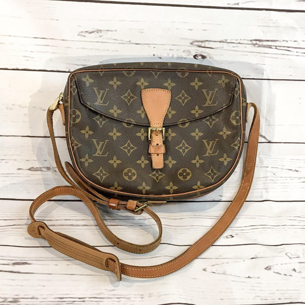 Louis Vuitton Monogram Jeune Fille Crossbody Bag-Sold Items-Louis Vuitton-Brown/tan/gold-JustGorgeousStudio.com