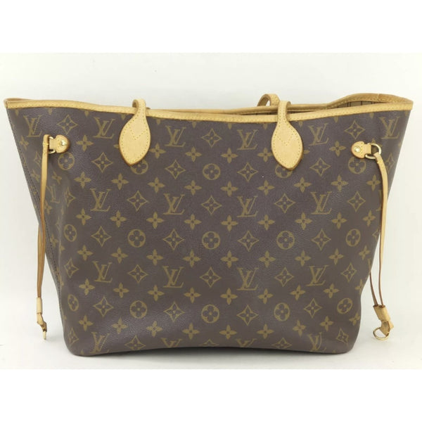 Louis Vuitton Monogram Neverfull MM-Bags-Louis Vuitton-Brown-JustGorgeousStudio.com