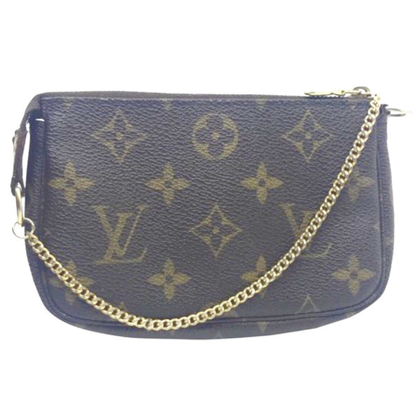 Louis Vuitton Monogram Pochette Accessoires PM-Wallets & Clutches-Louis Vuitton-Brown-JustGorgeousStudio.com