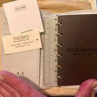 Louis Vuitton Monogram Vernis Agenda PM-Agenda, Books, and Writing-Louis Vuitton-White/Citrine-JustGorgeousStudio.com