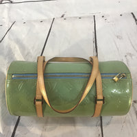 Louis Vuitton Monogram Vernis Bedford Barrel Bag Nearly Pristine!-Sold Items-Louis Vuitton-Blue/green-JustGorgeousStudio.com