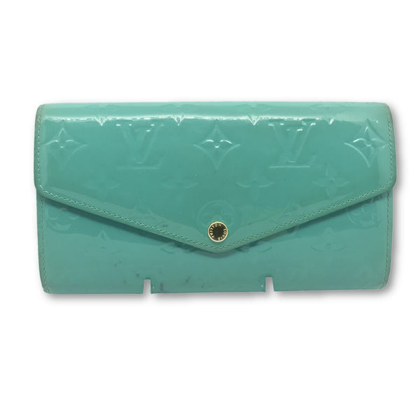 Louis Vuitton Monogram Vernis Sarah Long Wallet-Sold Items-Louis Vuitton-turquoise-JustGorgeousStudio.com