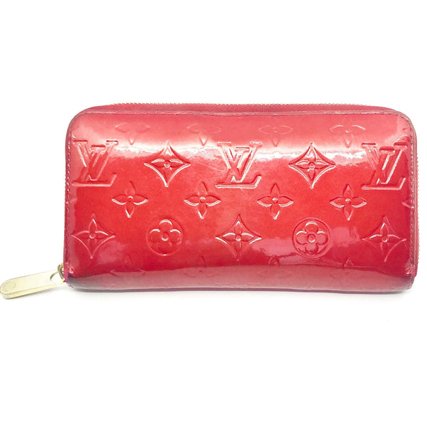 Louis Vuitton Monogram Vernis Zippy Long Wallet-Wallets & Clutches-Louis Vuitton-Red-JustGorgeousStudio.com