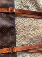 Louis Vuitton Sac Shopping Strap Customization and Custom Cinch Addition-Custom Made-Just Gorgeous Studio-brown-JustGorgeousStudio.com