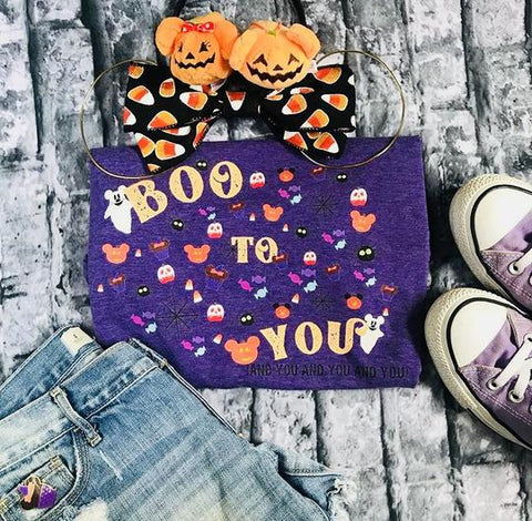 BOO TO YOU PARADE SPIDERS HALLOWEEN SHIRT