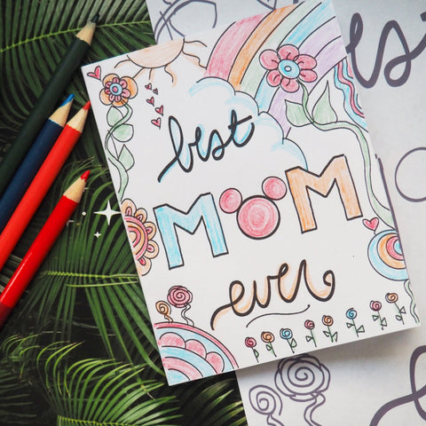 Printable Disney Moms Mother's Day Card