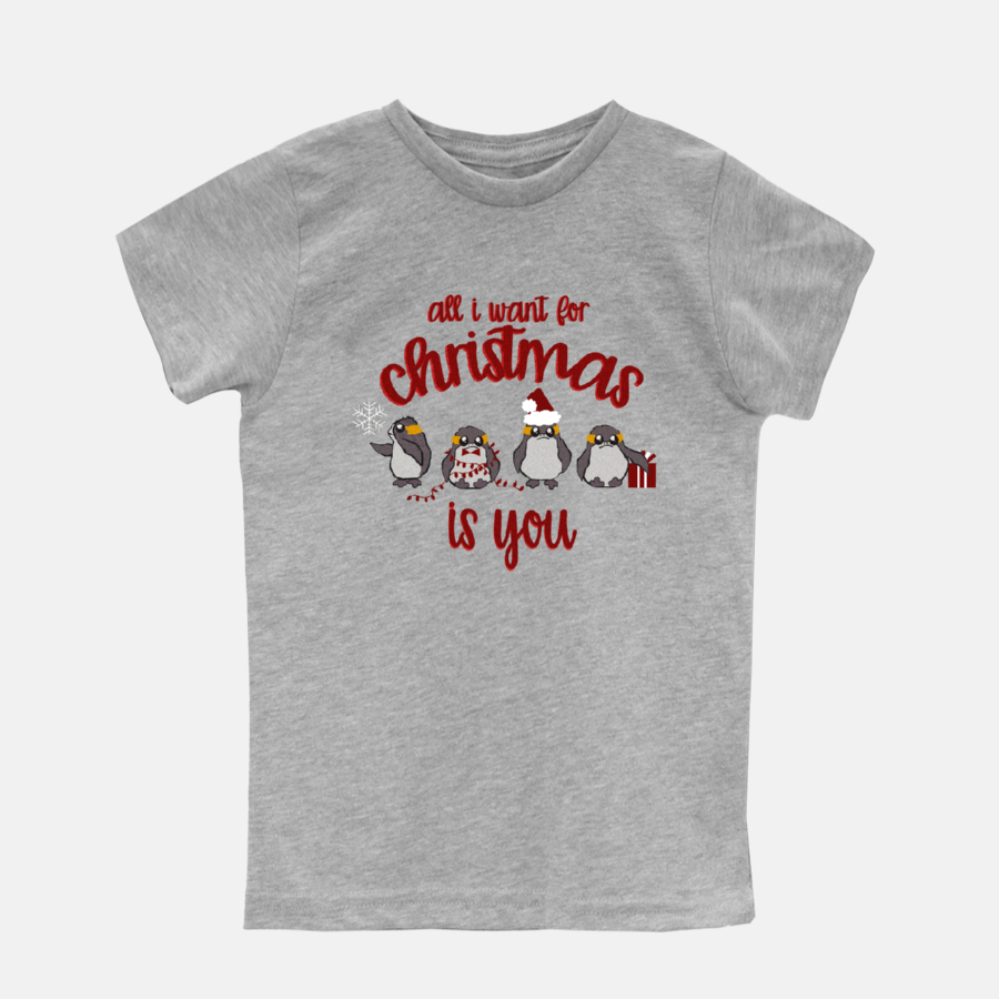 Christmas Star Wars Disney Kids Shirt with Christmas Porgs