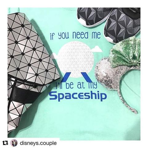 I'll be at my Spaceship Epcot Spaceship Earth Walt Disney World Inspired shirt
