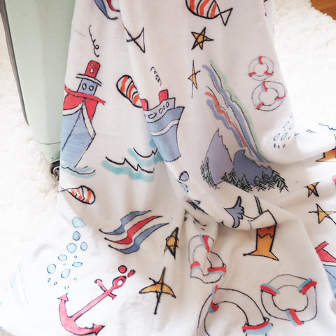 Disney Cruise Line Sketch Throw Blanket