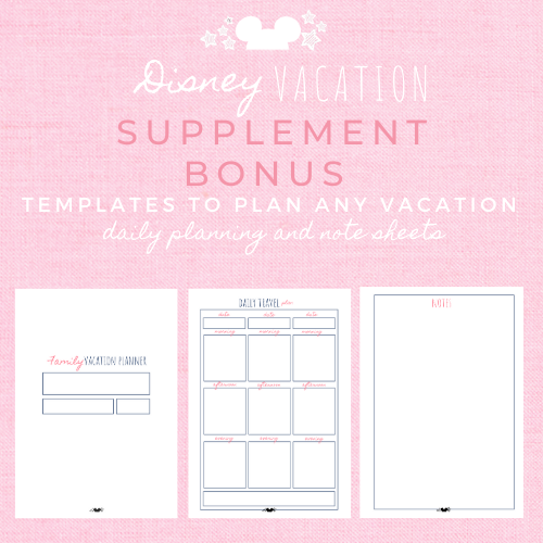 Disney Planner  BASIC Disney Vacation Planner Printable