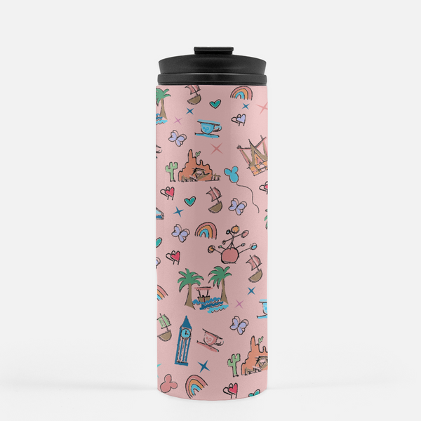 Disneyland Park Icon Stainless Steel Tumbler California Dreamin' Disneyland Tumbler