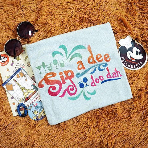 Sip a Dee Doo Dah Disney Food and Wine Splash Mountain Unisex T-Shirt