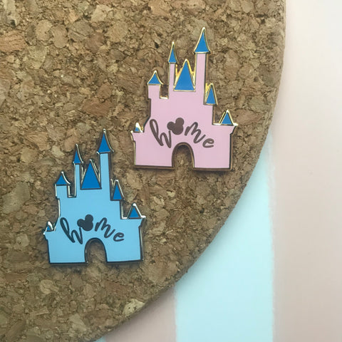 Cinderella Castle Mickey Home Hard Enamel Pin Walt Disney World Disneyland Sleeping Beauty
