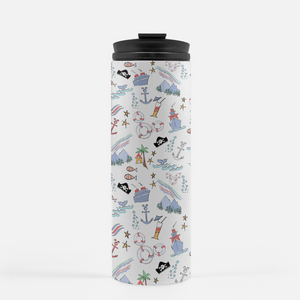 Disney Cruise Tumbler Sail Away with Me Disney Cruise Sketch Tumbler Stainless Steel Water Bottle