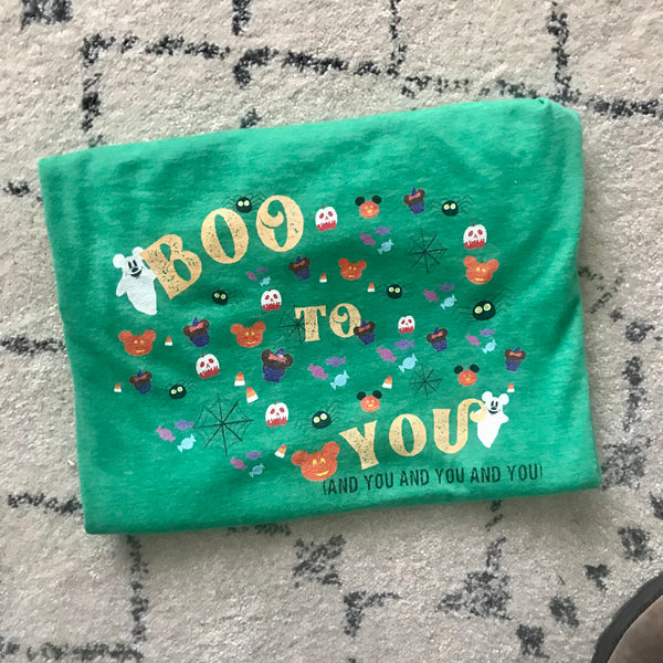 Boo To You Parade T-Shirt READY TO SHIP- Halloween Disney T-Shirt- SMALL