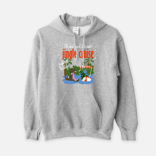 Jingle Cruise Hoodie Sweatshirt Hippo Disney Sweatshirt Adventureland Jingle All the Way