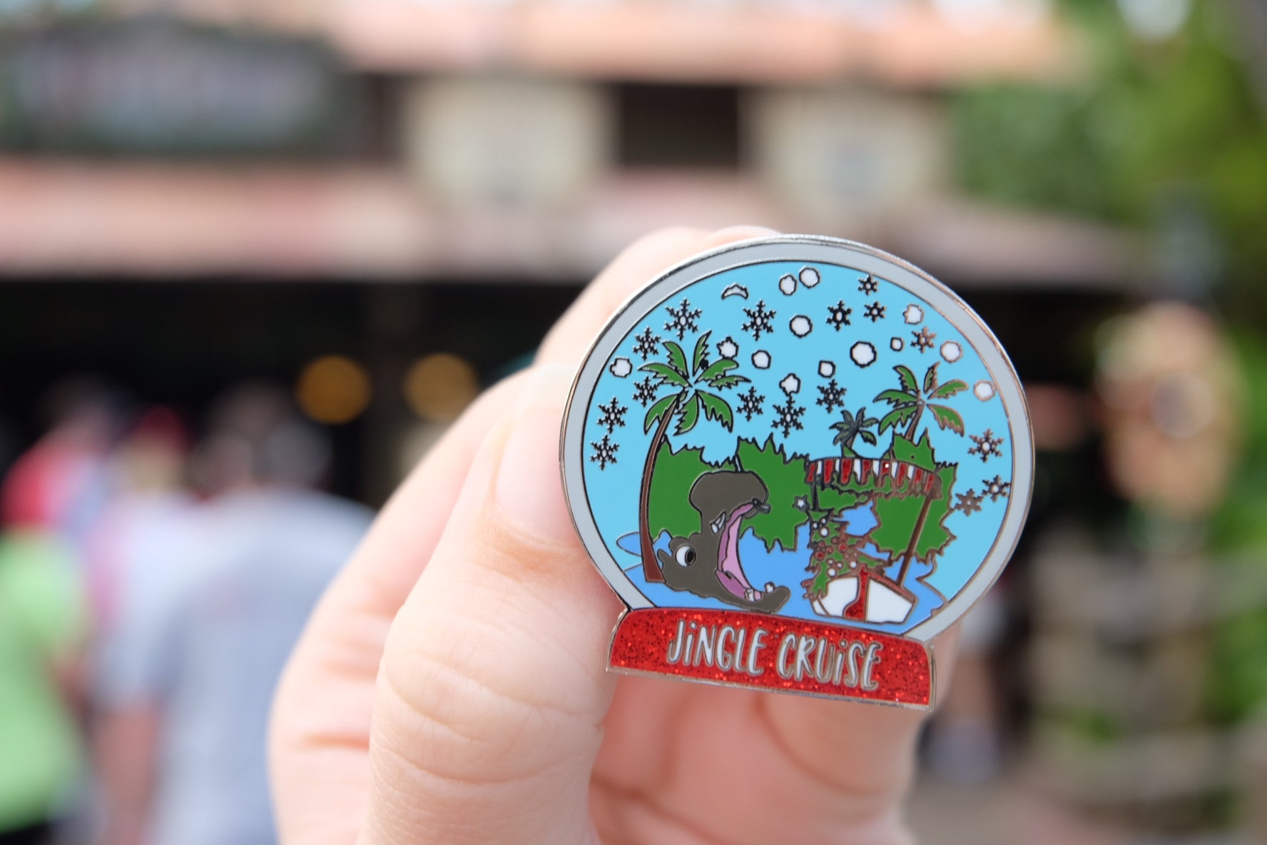 Jingle Cruise Snow Globe holiday christmas disney inspired pin